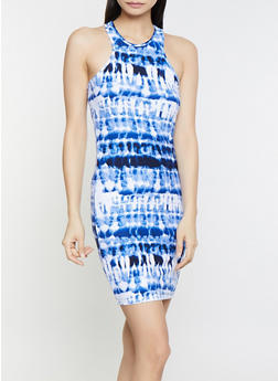 Tie Dye Racerback Tank Dress - 1094038349453