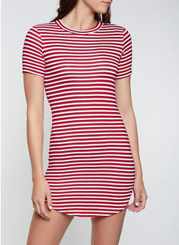 Striped T Shirt Dress   1094038349461 - 1094038349461