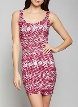 Printed Tank Dress - 1094038349464