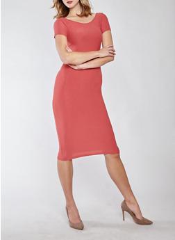 Soft Knit Bodycon Dress - 1094038349801