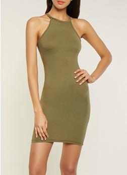 Solid Soft Knit Tank Dress - 1094038349811