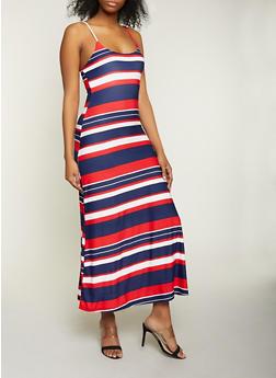 Striped Cami Maxi Dress - 1094038349933