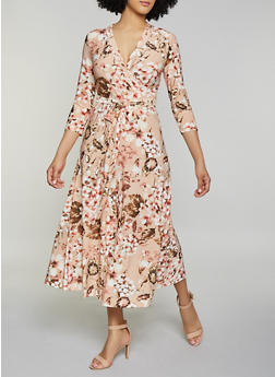 Floral Faux Wrap Maxi Dress | 1094051060955 - 1094051060955