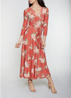 Floral Faux Wrap Maxi Dress | 1094051062955 - 1094051062955