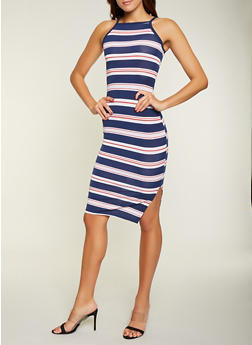 Variegated Stripe Midi Tank Dress - 1094051063943