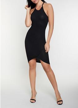 Rib Knit Tank Dress - 1094051063944
