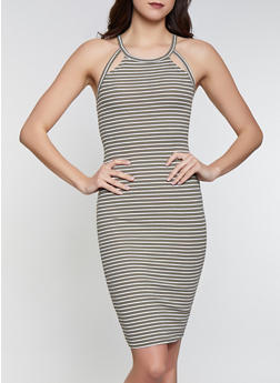 Striped Midi Tank Dress - 1094051063952