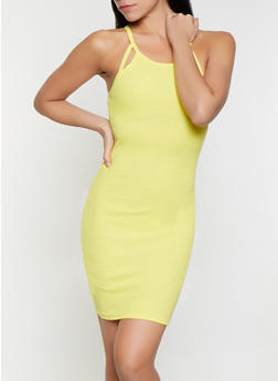 Cut Out Bodycon Dress - 1094051064035