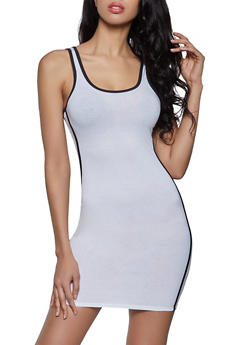 Varsity Stripe Sleeveless Bodycon Dress - 1094051064353