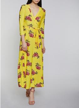 Floral Faux Wrap Maxi Dress | 1094051066955 - 1094051066955
