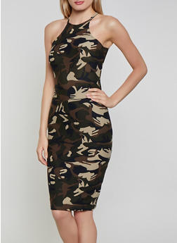 Camouflage Bodycon Dress - 1094051068946