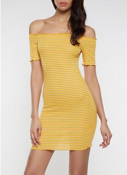 Lettuce Edge Off the Shoulder Dress - 1094054261134