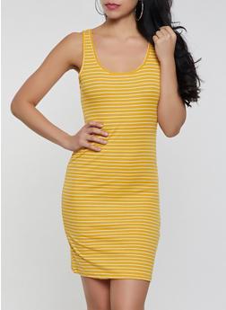Basic Striped Tank Dress - 1094054261144