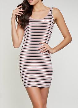 Striped Rib Knit Tank Dress | 1094054263144 - 1094054263144