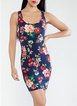 Floral Tank Dress - 1094054265573
