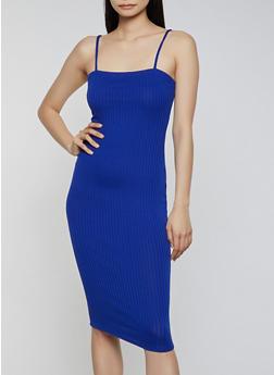 Square Neck Bodycon Dress - 1094058750047