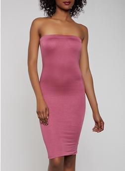 Solid Midi Tube Dress | 1094058750053 - 1094058750053