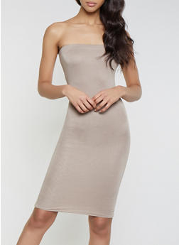 Solid Midi Tube Dress | 1094058750053 - 1094058750053