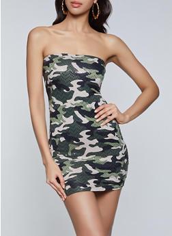 Camo Tube Dress - 1094058750641