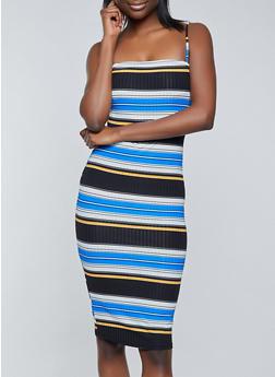 Horizontal Stripe Cami Dress - 1094058750666