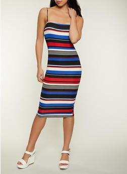 Bodycon Horizontal Stripe Cami Dress - 1094058750667