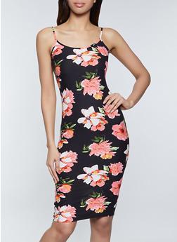 Floral Cami Bodycon Dress - 1094058750704