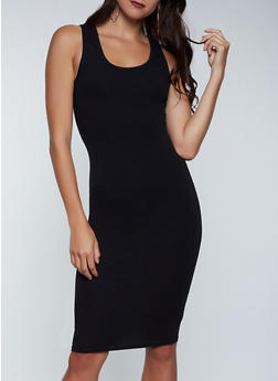 Solid Bodycon Tank Dress - 1094058750962
