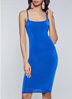 Solid Cami Bodycon Dress - 1094058751056
