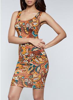 Paisley Floral Tank Dress - 1094058751133