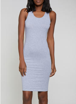 928fe037a6 Solid Tank Midi Dress