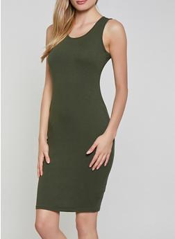 Solid Tank Midi Dress | 1094058752790 - 1094058752790