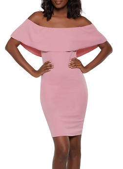 Ruffled Off the Shoulder Bodycon Dress | 1094058754645 - 1094058754645