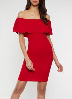 814dd67945 Ruffled Off the Shoulder Bodycon Dress