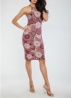 Printed Tank Dress - 1094060582968