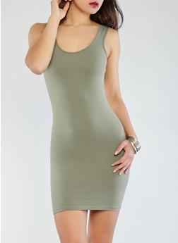 Solid Tank Dress - 1094061639661