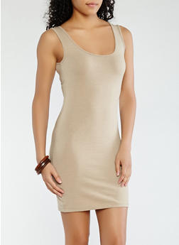 Solid Tank Dress - 1094061639661