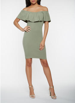 Off the Shoulder Bodycon Dress - 1094061639662