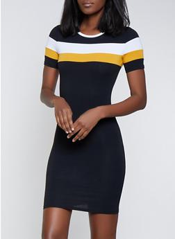Color Block T Shirt Dress  16ea208b4