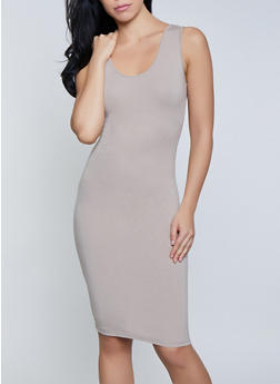 Scoop Neck Tank Dress - 1094061639735