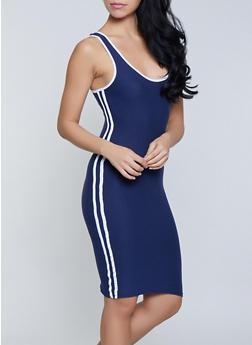 Varsity Stripe Soft Knit Tank Dress - 1094061639740