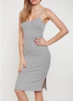Rib Knit Bodycon Dress - 1094062124522