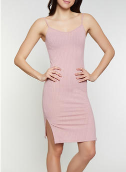 Rib Knit Bodycon Dress - 1094062124522