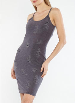 Distressed Tank Dress - 1094062127115