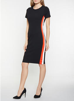 Side Stripe T Shirt Dress - 1094069390798