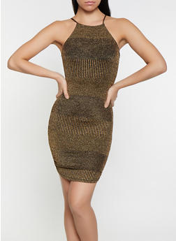 Shimmer Knit Sweater Dress - 1094069390918