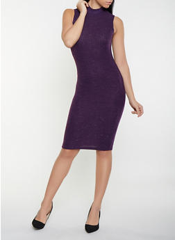 Brushed Knit Sweater Dress - 1094069394123