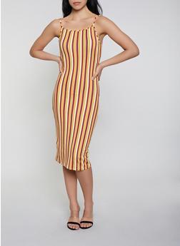 Vertical Stripe Cami Dress - 1094073372100