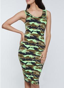 Soft Knit Camo Tank Dress - 1094073375106