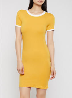 Contrast Trim T Shirt Dress | 1094073375203 - 1094073375203