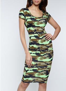 Camo T Shirt Dress - 1094073376107
